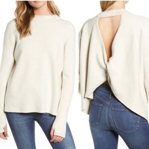 NWT PHILOSOPHY OLLIE TWISTED OPEN BACK SWEATER L